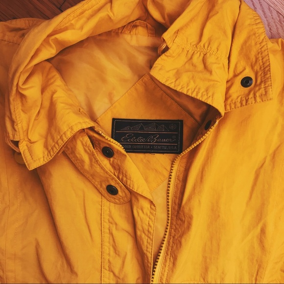 Vintage Jackets & Blazers - Vintage Yellow Rain Jacket
